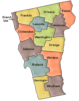 Map of vt clipart.