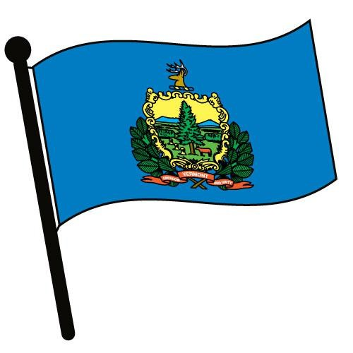 Vermont state flag clipart.