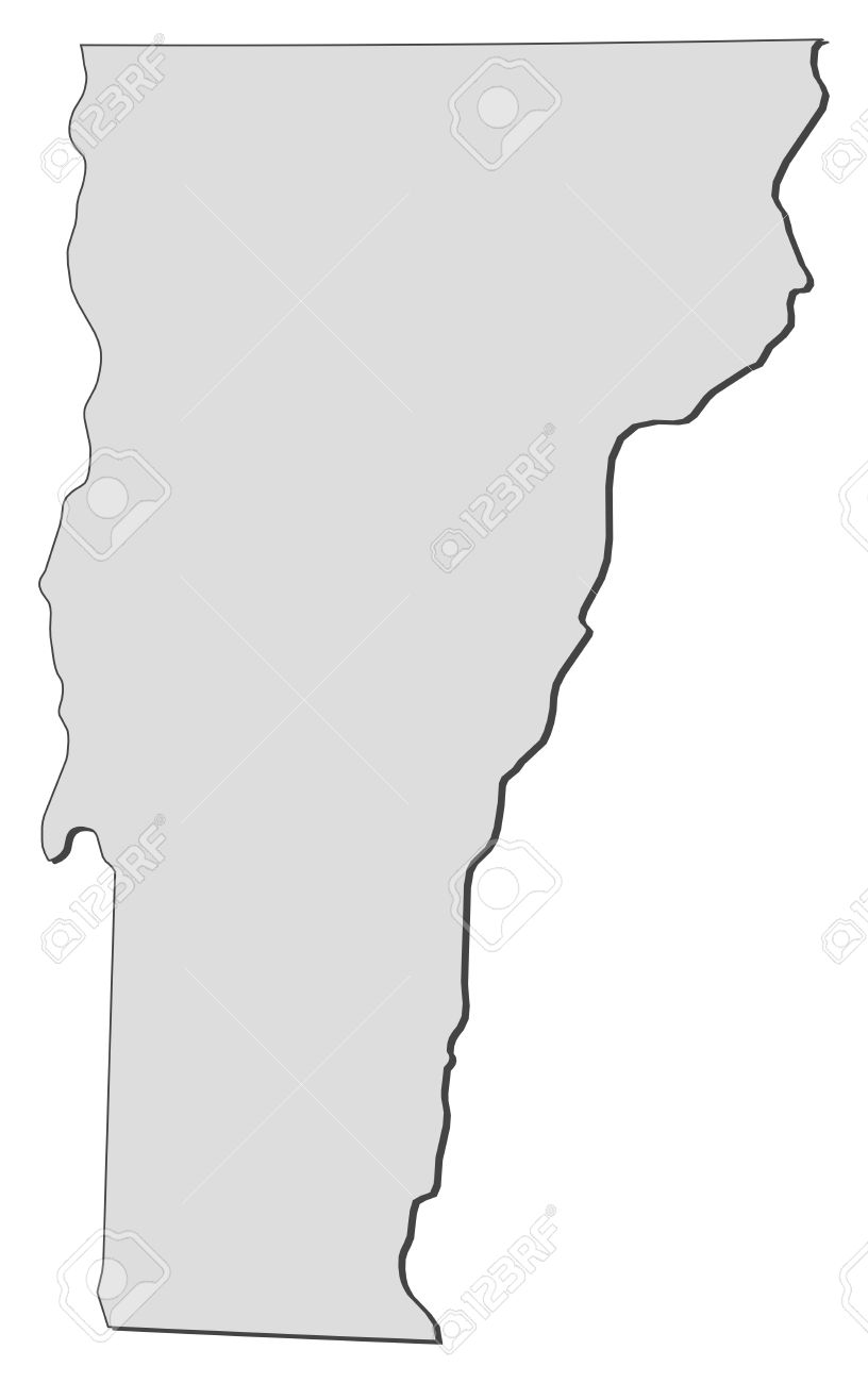 Map Of Vermont Vector Graphic. Vector. Get Free Images About World.