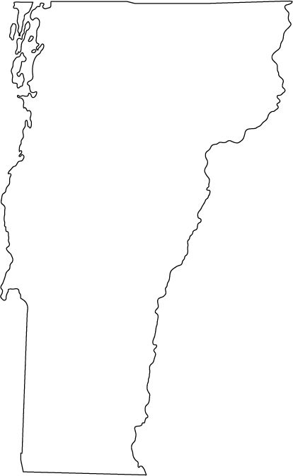 vermont outline map.