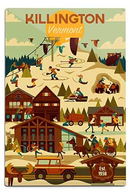 Amazon.com: Lantern Press Killington, Vermont.