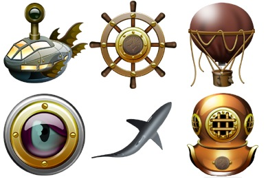 Jules Verne Iconset (16 icons).