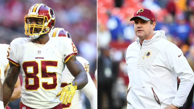 Vernon Davis says Jay Gruden is a big reason why he wants to.