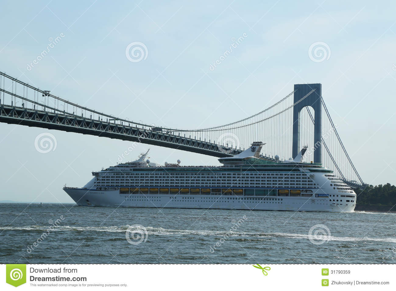Royal Caribbean Explorer Of The Seas Cruise Ship Under Verrazano.