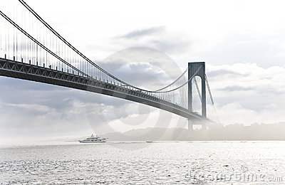 Verrazano Bridge Royalty Free Stock Images.