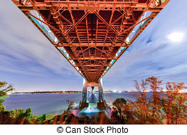Stock Photo of Verrazano Bridge Underpass.