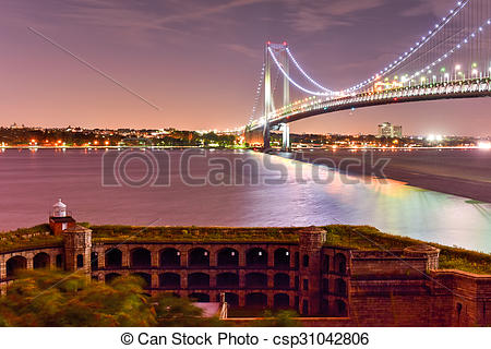 Stock Photography of Verrazano Bridge Underpass.
