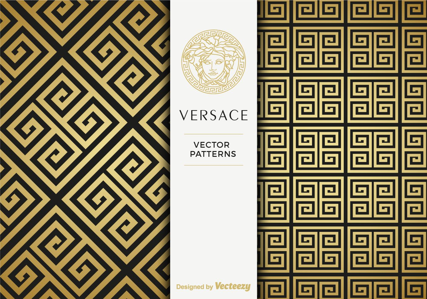 Free Versace Golden Vector Patterns.