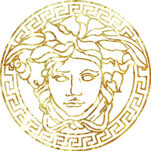 History of the logo VERSACE.