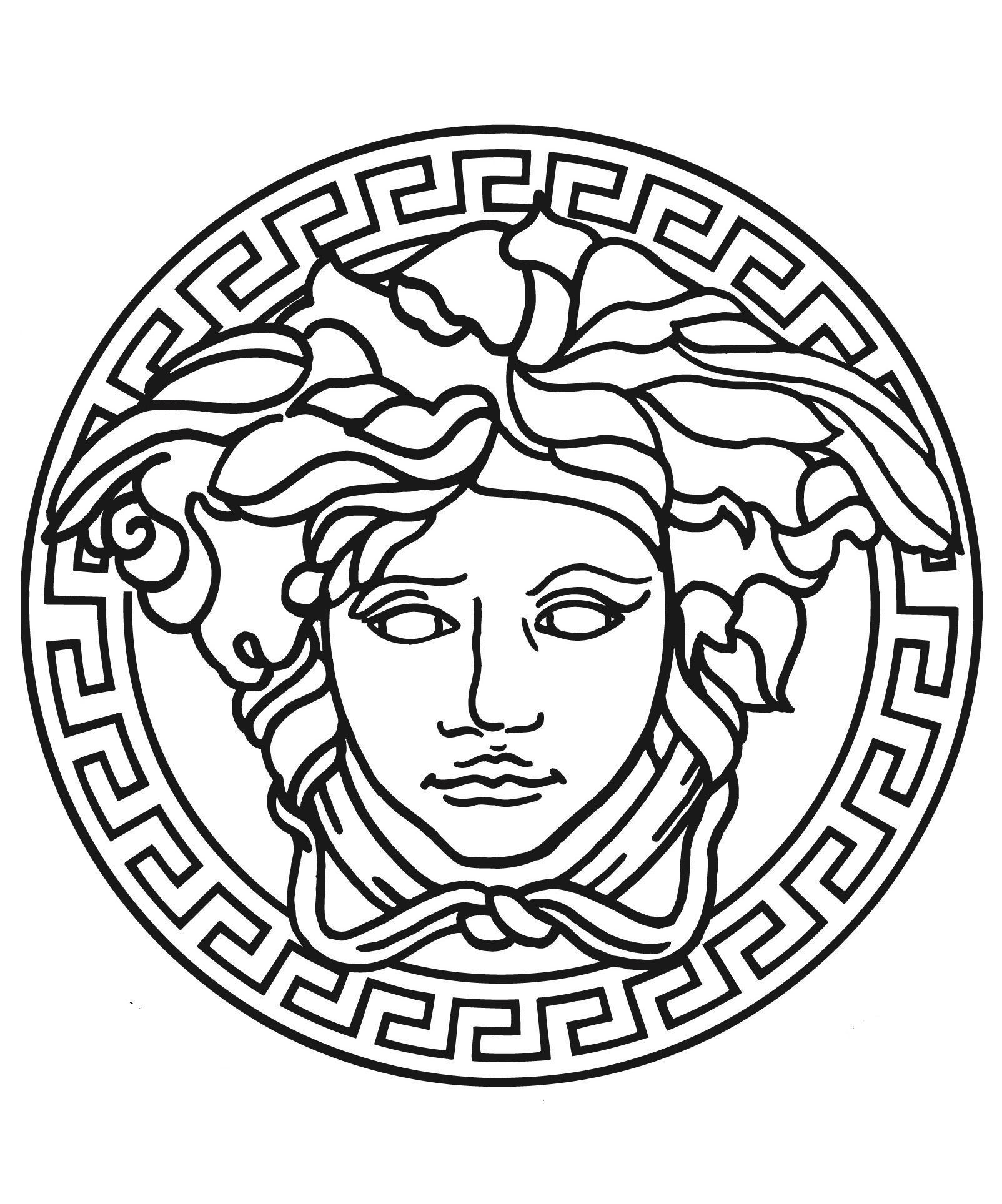 Versace Logo Drawing at PaintingValley.com.