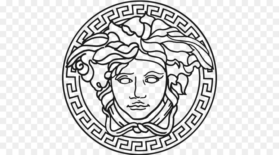 Versace Black And White png download.