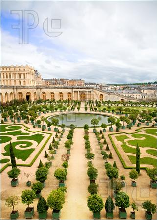 Palace of Versailles Gardens Clip Art.