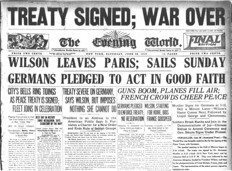 Treaty of versailles clipart.