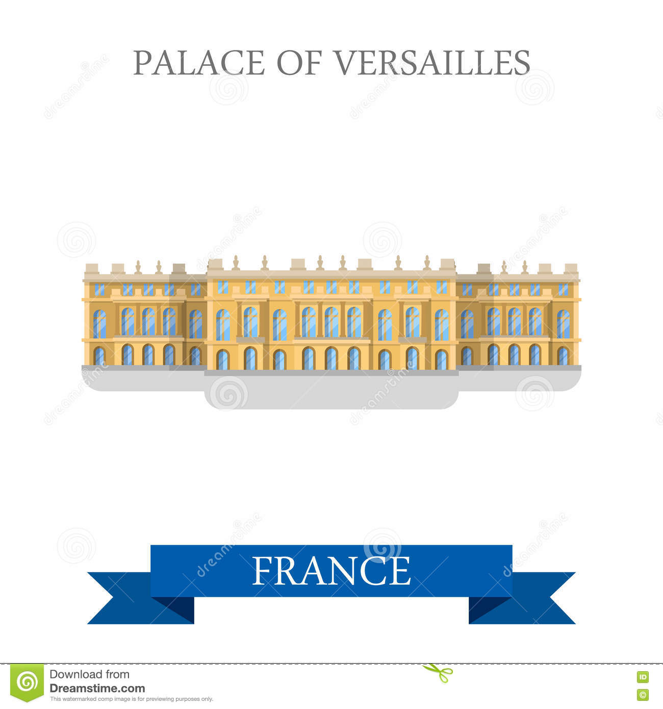 Palace Versailles Stock Illustrations.