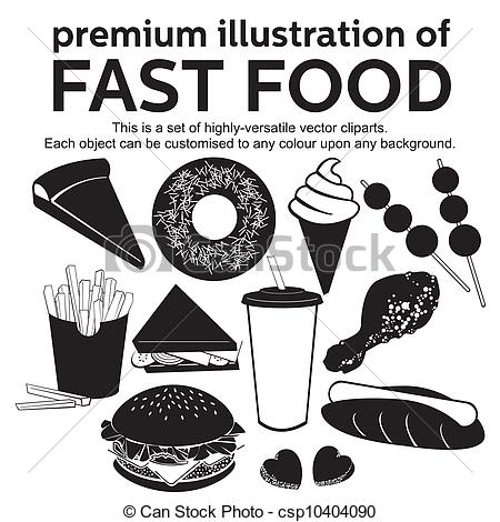 EPS Vectors of Fast food vector.