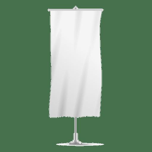 Blank vertical banner flag.