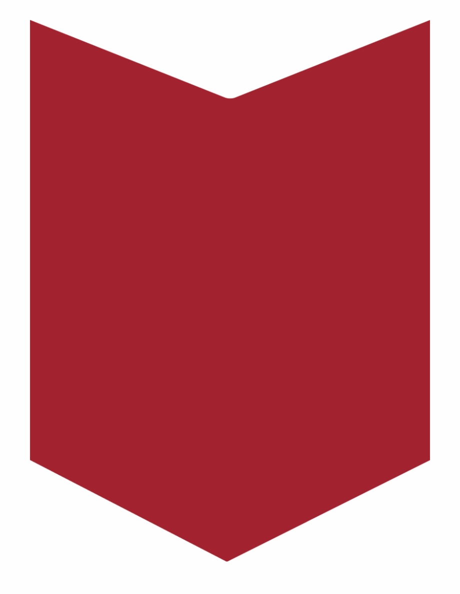 Red Vertical Banner With Wedge, Transparent Png Download For.