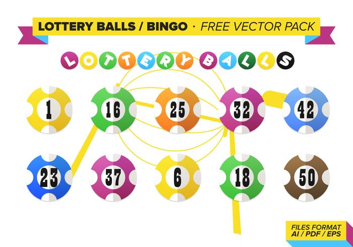 Lottery Balls Bingo Vector Pack.