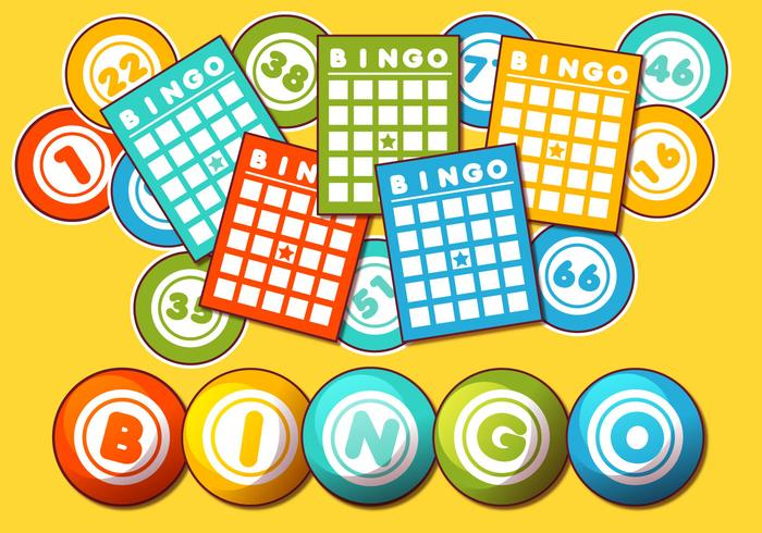 Bingo Card Vector Set.