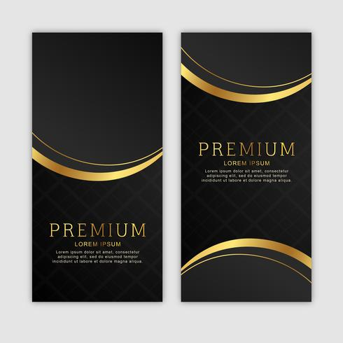 Premium Golden Vertical Banner Set.