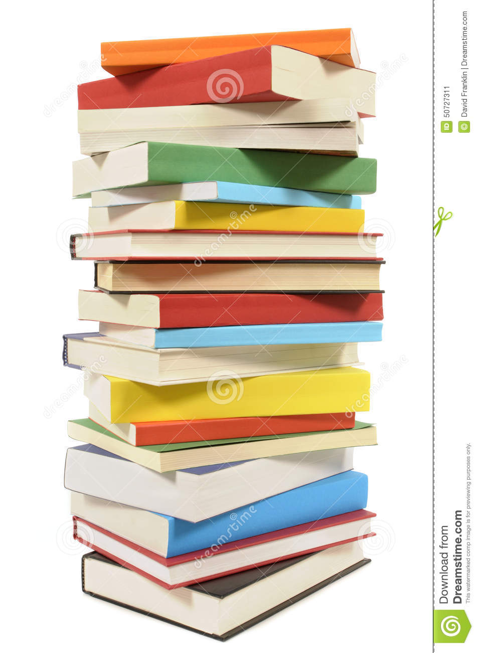 Tall Stack Of Books Clipart.