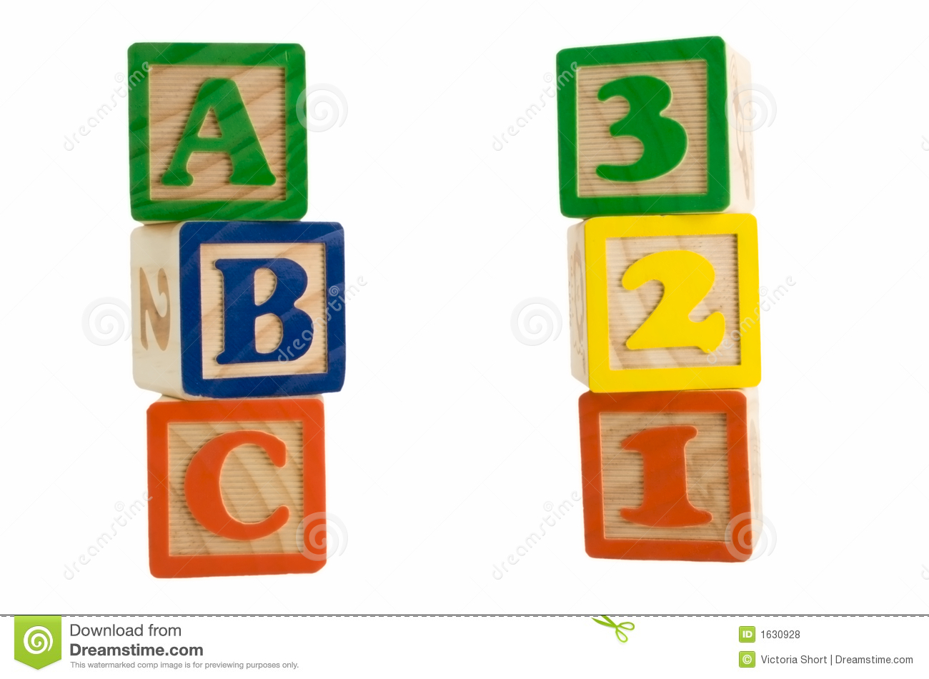 Abc Blocks Vertical Clipart.