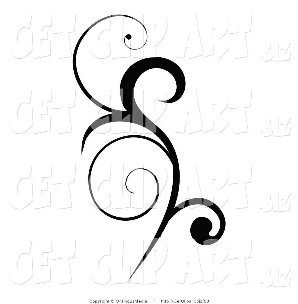 Vertical Scroll Clipart.