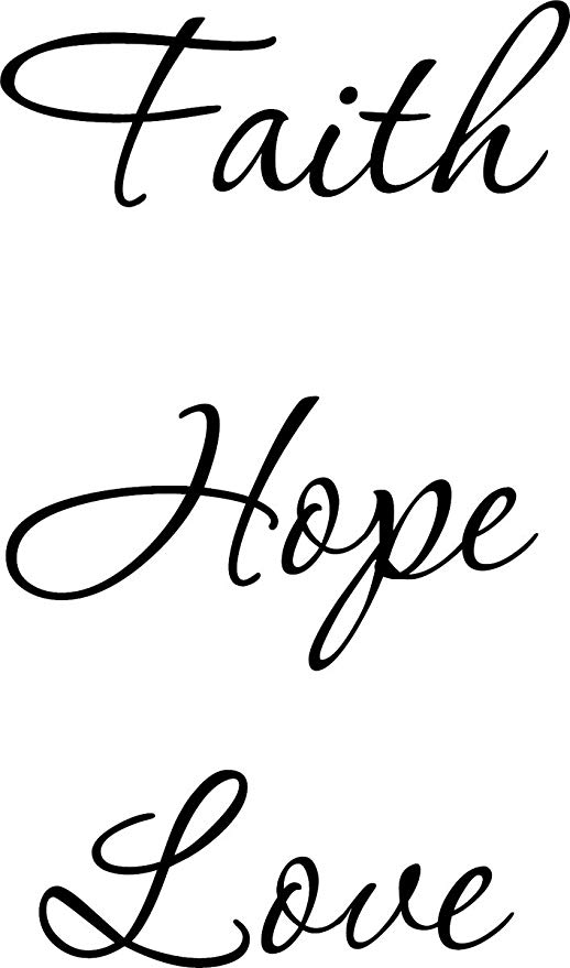 Wall Decal Quote Faith Hope Love Wall Decal Decor Words Large Nice Sticker  by Quote Designs.