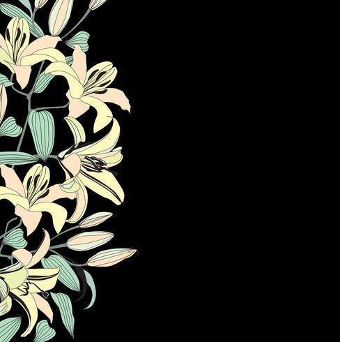 Floral seamless pattern. Flower background. Flourish garden.