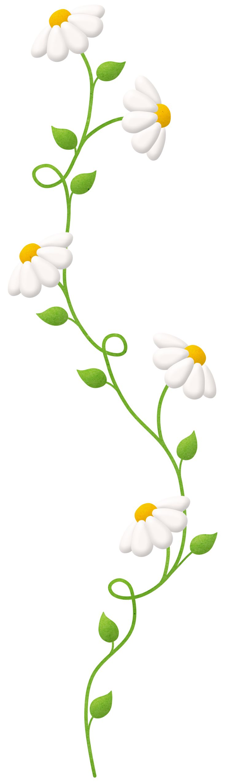 vertical flowers clipart #5