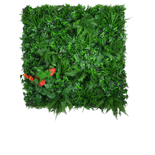 Mixed Jungle Vertical Garden UV Stabilised 1m X 1m.
