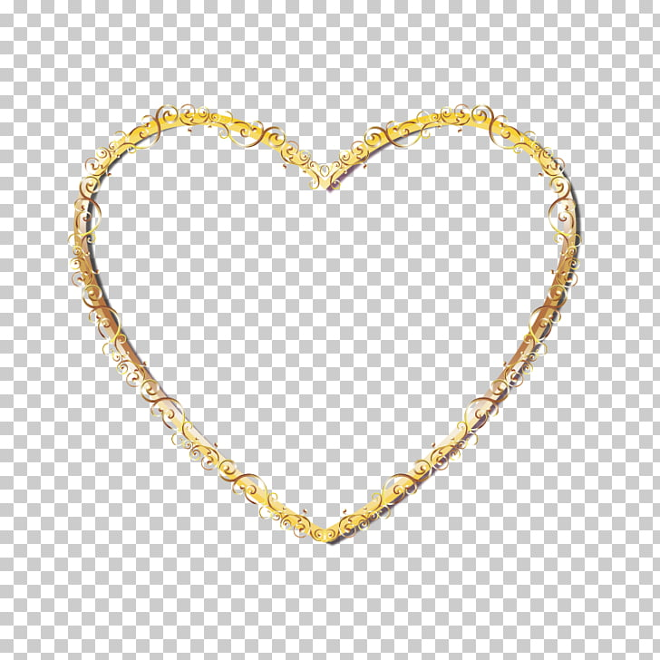Right border of heart Gold, Gold heart.