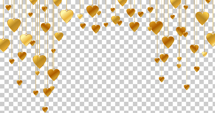 Heart Shape Line, Gold heart.
