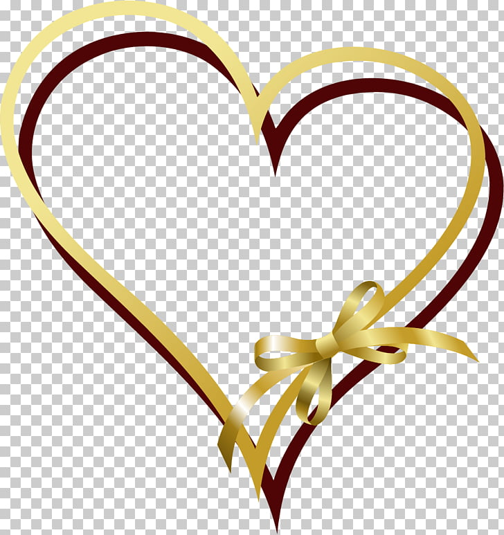 Ribbon Gold , painted gold ribbon love, brown and gold heart.