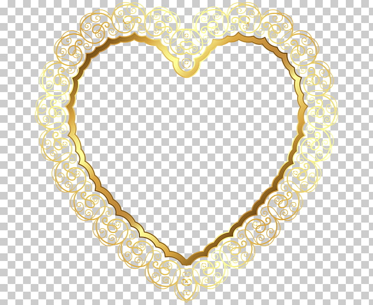 Right border of heart , heart, gold heart frame graphic PNG.