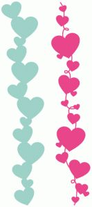 Vertical Hearts Clipart.