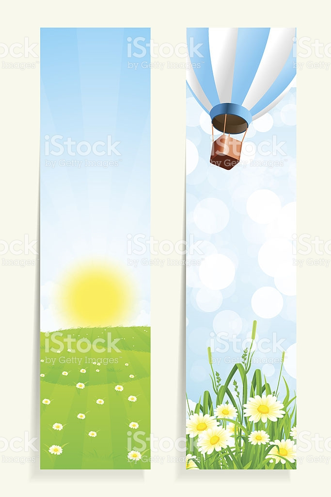 Two Vertical Banners With Nature stock vector art 481796211.
