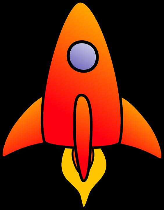 Free vector graphic: Rocket, Vertical, Start, Orange.