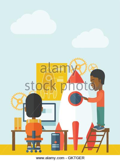 Vertical Launch Stock Vector Images.