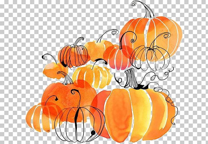 Autumn Harvest festival Thanksgiving Flyer, pumpkin, orange.