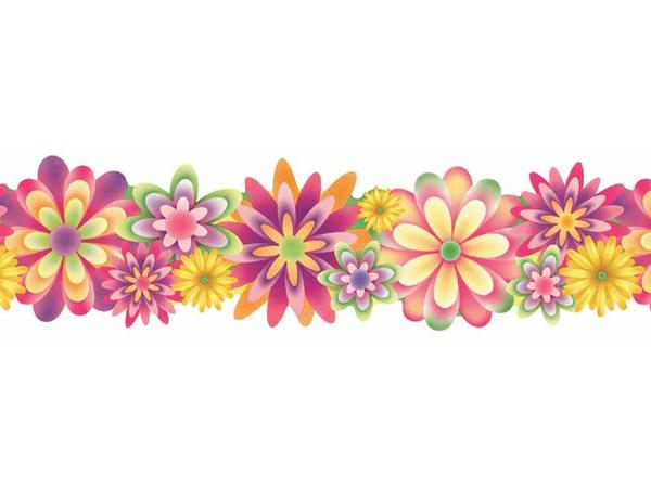 1800 Flower Border free clipart.