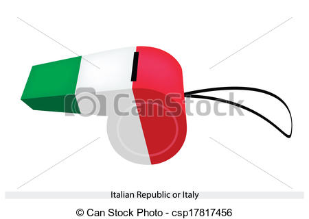 Clipart Vector of A Whistle of The Italian Republic or Italy.