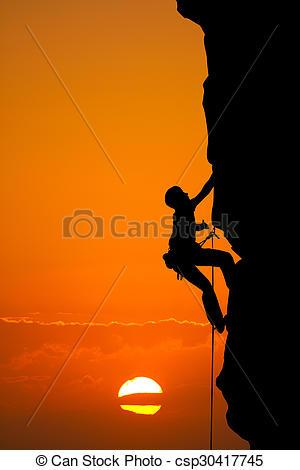 Drawing of climbing vertical wall.