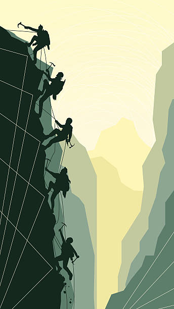 Rock Wall Climbing Clip Art, Vector Images & Illustrations.