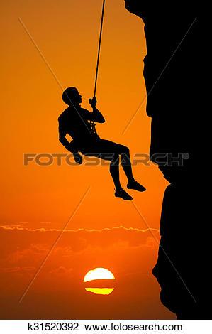 Clip Art of climbing vertical wall k31520392.