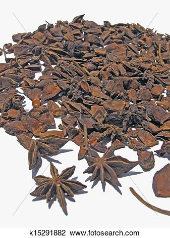 Stock Photo of Star Anise, Illicium verum Hooker fil., Illiciaceae.