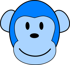 Very Blue Monkey Clip Art at Clker.com.