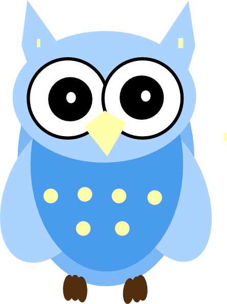 Very Blue Owl Clip Art at Clker.com.