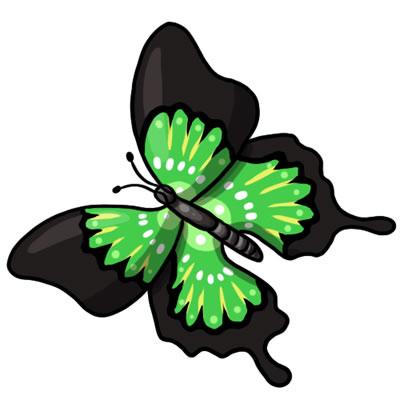 Green Butterfly Clipart.