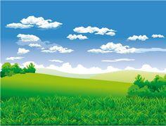 Green land clipart.